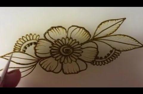 Henna Henna Design مهندي نقش الخطفة تعليم النقش بالحناء نقش حناء سهل و بسيط Youtube Henna Designs Flower Tattoo Lotus Flower Tattoo