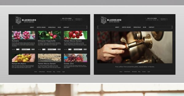 Bluebeard Coffee Roasters Designed by Partly Sunny