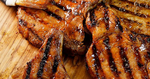 Brown Sugar Bourbon Grilled Peach Pork Chops | Recipe | Campfire ...
