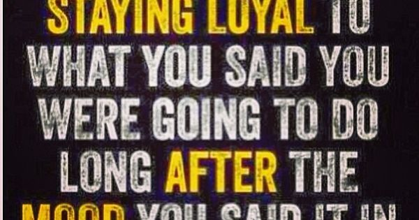 """Jillian Michaels Twitter Quote """"Commitment means staying loyal to what you said"""