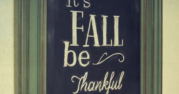 Easy Chalkboard Lettering - Fall Chalkboard Thanksgiving