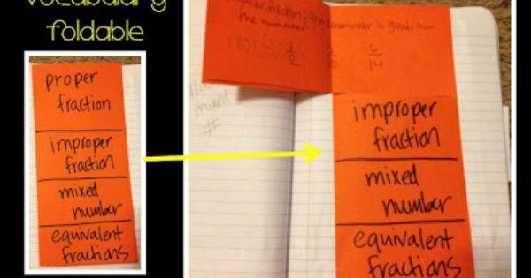 Math flip book