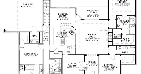 2500 Sq Foot Plan First Floor Plan Of European Southern
