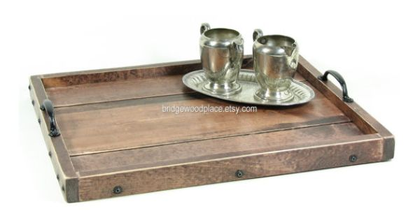 Decorative ottoman tray serving tray breakfast tray rustic wooden tray coffee table tray Decorative trays for coffee tables