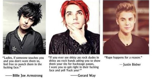 Billie and Gerard are such amazing people! Bieber needs to quit the