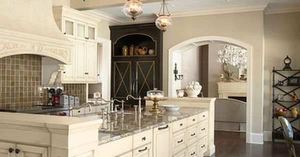 Kitchens with cream colored cabinets design pictures for Cream colored cabinets