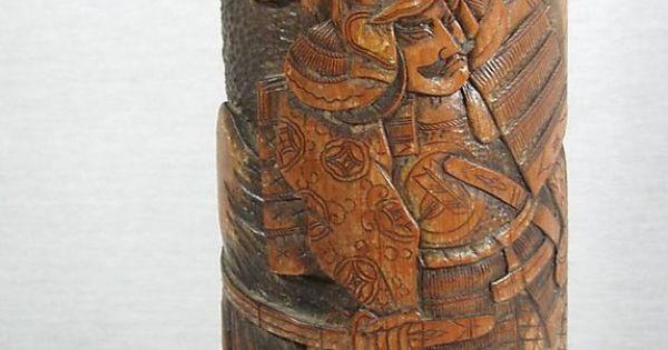 Samurai brush pot meiji taisho period early th century