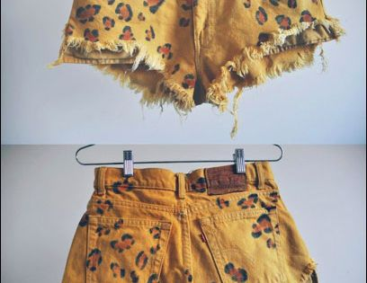 diy leopard shorts::: will be attempting this style THIS WEEKEND! YAS!