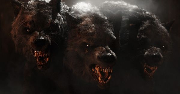 Pin By Daniel Calles On Tattoo Ideas Cerberus Demon Dog Wolves Fighting