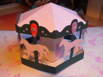Carousel Pop Up Card Birthday Cards Diy Pop Up Art Creative Cards