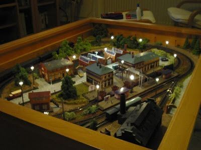Coffee table train set antique n scale coffee table train layout model railroads motivation Train table coffee table