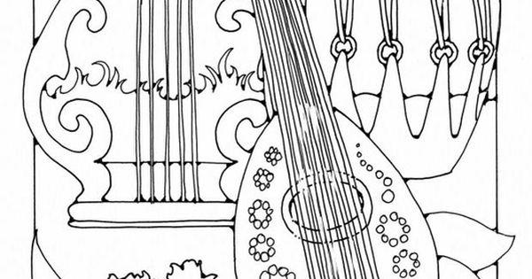 Kleurplaat Muziekinstrumenten Coloring Page Musical
