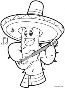 Cinco De Mayo Coloring Page Printable Coloring Pages Coloring Pages For Kids Spider Coloring Page