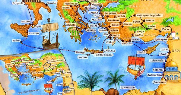 Mapas de viajes de pablo mapa de los viajes de san pablo for Cuarto viaje de san pablo