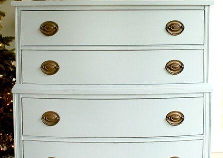 Just a Girl Blog » Mustard Seed Milk Paint Dresser {Makeover}
