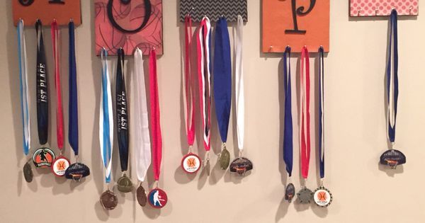 Basketball medal display  Craft Ideas  Pinterest