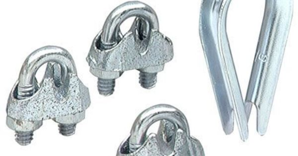 Lehigh 7310 6 Wire Rope Thimble Clamp Set Zinc Finish For 3 16 In Wire By Lehigh 2 72 Lehigh 7310 6 Wire Rope Thim Wire Clamp Zinc Plating Home Hardware