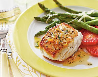 Halibut with Smoky Orange Vinaigrette Recipe