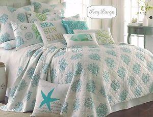 4-pc ☆ SEASHELLS STARFISH ☆ King Quilt Set Tropical Fish Beach House Coastal