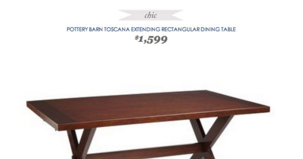 COPY CAT CHIC FIND Pottery Barn Toscana Dining Table VS  : 24c2490082828a8b7bf19cbd66e22f9e from www.pinterest.com size 600 x 315 jpeg 12kB