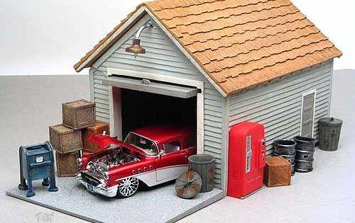 American diorama buildings garage building 1 24 scale for American garage builders