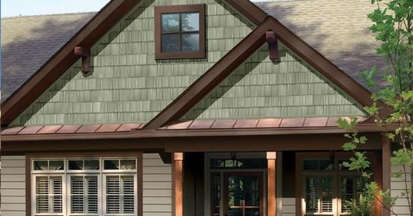 Sage Green Siding With Brown Trim Google Search Home