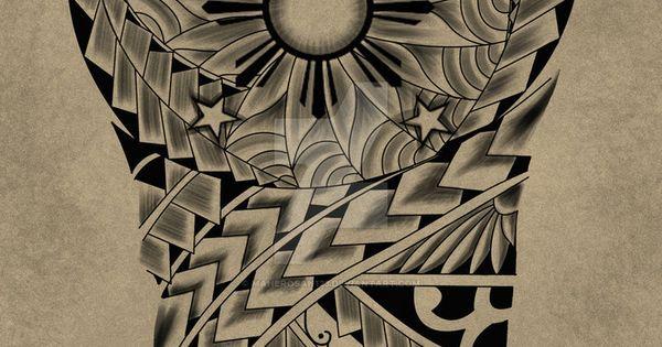 Tattoo request design Maori 3 stars and the sun by ...
