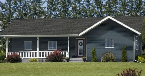 Midnight Surf Siding Pewter Roof White Trim Cottage