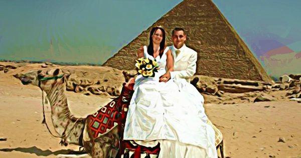 Wedding At The Great Pyramids Of Giza Santa Claus