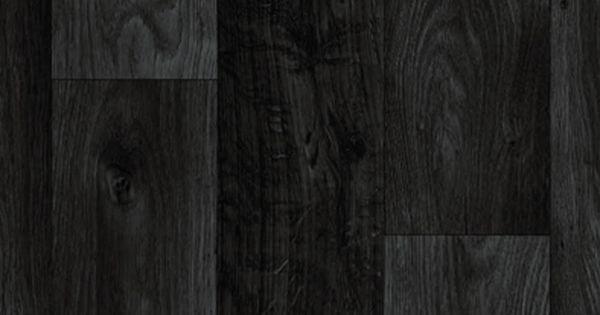 Black dark grey wood plank vinyl flooring slip resistant for Black wood effect lino
