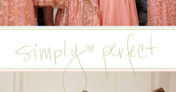 Peach and Mint Bridesmaid Dresses! I love LOVE Elie Saab!