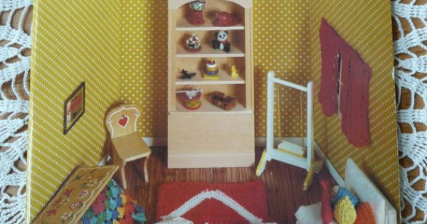 Miniature Crocheting and Knitting for Dollhouses Pattern Book. Miniatures ~...
