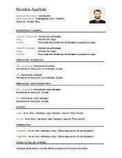 Resultado De Imagen Para Modelo De Curriculum Vitae Documentado