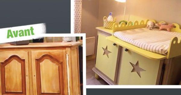 comment transformer une commode en table langer leroy merlin deco bebe pinterest. Black Bedroom Furniture Sets. Home Design Ideas