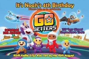 2 x GO JETTERS  PERSONALISED BIRTHDAY BANNERS