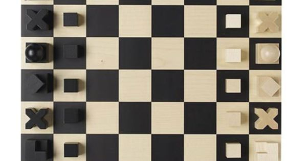 Bauhaus chess board these pieces could be cut from 3 4 inch pine in layers to make the same - Bauhaus chess board ...