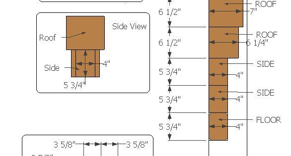 Do It Yourself Home Design: Birdhouse Measurements, Build It Yourself!