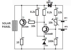 World Technical Solar Charger Circuit Diagram Circuit Diagram Solar Charger Solar
