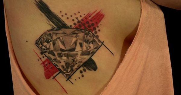 'Trash Polka' diamond. love the placement, not the diamond