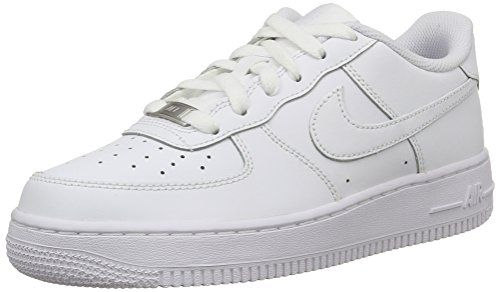 Nike AIR FORCE 1 (GS), Unisex Kinder Sneakers, Weiß (117