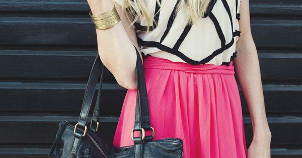 pink maxi skirt geometric top nice pink skirt sasssjane skirt pink hashionpink