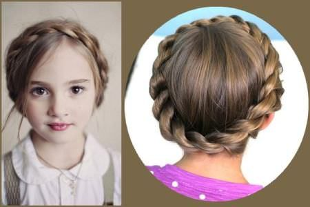 Crown Braids For Kids With Images Kids Hairstyles Cute