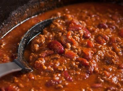 Slow Cooker Chili {Cooking Classy} - always replace ground beef with tri-tip