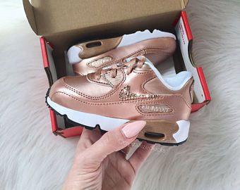 Solitario arroz Hectáreas  Nike Air Max 90 Silber Schuhe mit SWAROVSKI® Kristallen | Baby ...