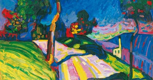 Wassily Kandinsky Murnau – Kohlgruberstrasse, 1908 Oil on ...