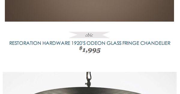 Copycatchic Restorationhardware 1920 S Odeon Glass