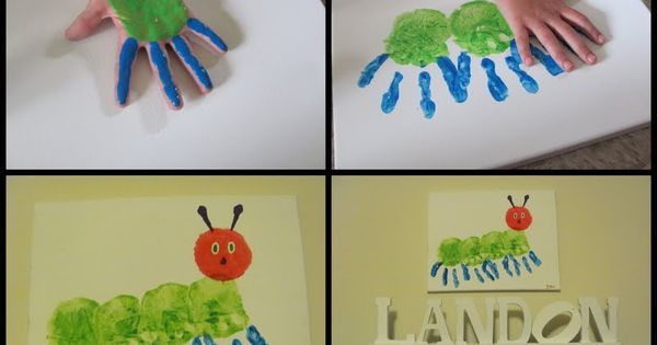 Very Hungry Caterpillar Wall art.... Love Eric Carle!!!! Cute idea for a