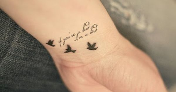 Three little birds wrist tattoo:)