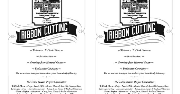 ribbon cutting ceremony program template | program for the ribbon ...