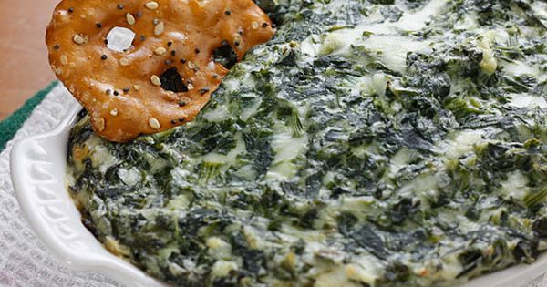 Skinny hot spinach dip - light sour cream, light mayo and part